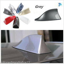 Grey Universal Car Exterior Decor Shark Fin FM/AM RV Radio Signal Antenna Aerial