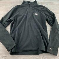 *The North Face Women Size S Black Full Zip Micro Fleece Lightweight Jacket