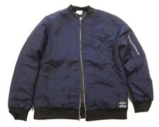 NWT $198 Mens Spiritual Gangster Satya Bomber Jacket in Midnight Blue sz L