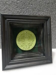 """Aztec Shadowbox satin green apple 6"""" x 6"""" Inches 2"""" Inches Depth"""