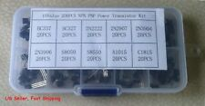 200 pcs 10 Types Transistor Assortment Kit 20 each with Box TO-92 - US Seller