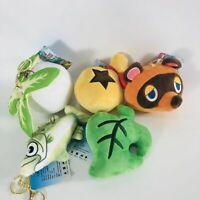 Animal Crossing Tom Nook Timmy Tommy Bell Bag Leaf Fish Plush Keychain Pendants