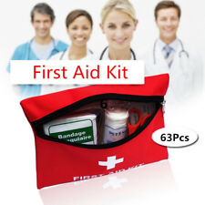 1 Set 63 Pcs First Aid Energency Kit Car Home Medical Bag Travel Outdoor Sports