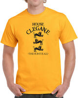 012 House Clegane mens T-shirt mountain the hound game sigil thrones vintage new