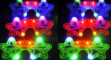 150 PCS Light-Up Star Glasses LED Flashing Blinking Multicolor Shades Rave Party