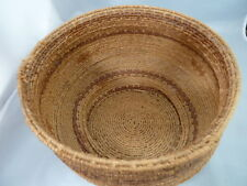 """Native American Weave Basket Bowl. Very Nice Design. Approx 6"""" Tall x 9"""" Diam"""