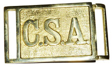 American Civil War CSA Confederate Officers CSA 2 Piece  Lettered Belt Buckle