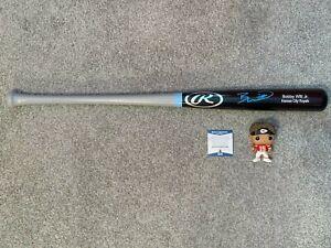 Bobby Witt Jr. Signed Rawlings Player Model Baseball Bat Beckett COA Royals!