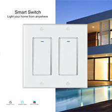 WIFI Smart Switch 2 Gang Wall Light Remote Switch For Alexa Google Home IFTTT US