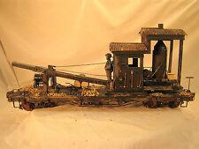 Accucraft  Car G scale 1:22.5 - Logging Crane - custom weathered - super quality