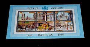 BARABUDA #265a, 1977, SILVER JUBILEE, SOUVENIR SHEET, MNH, NICE LQQK