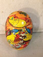 Vintage West German Paper Mache Candy Container With Chick Motif(1)
