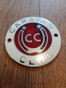 Vintage Caravan Club Motoring Metal Badge  Nice Collector's Item