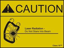 Fridge Magnet – Caution Laser Radiation (Funny Picture Comedy Poster Art)