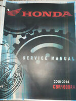 2008-2014 Honda CBR1000RR workshop service workshop manual binder 13 12 11 10 8