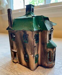 Vintage HO Gauge Fire-Damaged/On-fire/Burned out/Abandoned/Haunted House