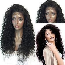 Tiefe Lockige Lange Spitze Frontal Synthetische Haar Perücken Langhaarperücke