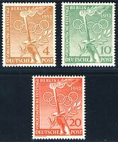 BERLIN 1952, MiNr. 88-90, postfrischer Kabinettsatz, Mi. 30,-