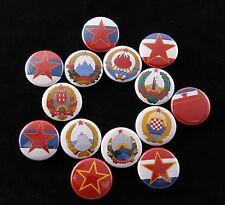Socialist Federal Yugoslavia SFRJ Flag Republic Tito 14 Magnet Set Lot Communist