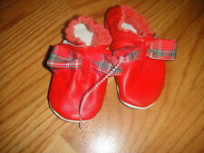 ROBEEZ 0-6 RED PLAID CHRISTMAS SHOES