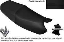 BLACK STITCH CUSTOM FITS HONDA NTV 650 DUAL LEATHER SEAT COVER ONLY