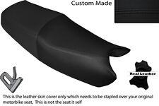 Negro Stitch personalizado se adapta a Honda NTV 650 doble de piel cubierta de asiento solamente