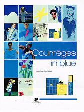 PUBLICITE ADVERTISING 054  1988   Courrèges   parfum IN BLUE