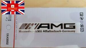 2pcs Mercedes Benz AMG BLACK Interior Emblem Aluminium Decal Sticker Badge Dash