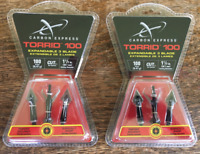 Carbon Express Torrid 100 Grain Broadheads New In Packaging (2 - PACKS) BLOWOUT