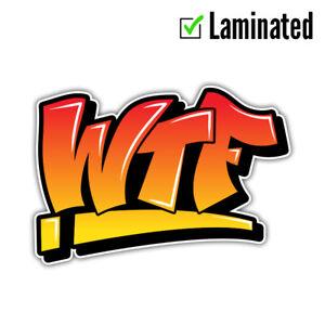 WTF Anime Logo Sticker Decal Vinyl Cartoon #2 Beer 4WD Ute Tradie