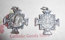 Medalla De San Benito St Saint Benedict Medal Oxidized Silver Tone