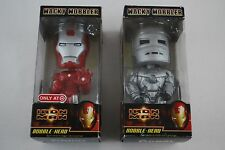Iron Man Bobble-Head Funko Wacky Wobbler Lot of 2 Bobble-Heads Damaged Packaging