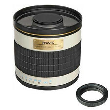 Bower 500mm f/6.3 Telephoto Mirror Manual Lens for Canon EOS SLR camera