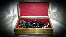 COSTUME JEWELRY LOT WITH WOODEN BOX INCLUDED !!