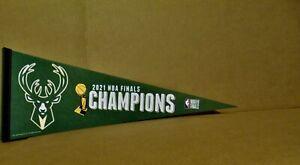 2021 Milwaukee Bucks NBA Champions Basketball 12x30 Inch Wincraft Pennant