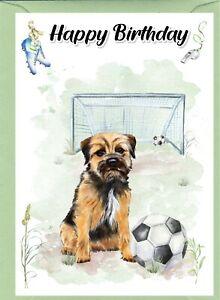 "Border Terrier Dog (4""x 6"") Birthday Card with blank inside - by Starprint"