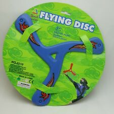 2x Outdoor Triangle Flying Disc Toys Pull Throw and Catch Flying Fetch Boomerang