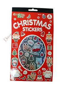 6 Sheets Christmas Stickers Xmas Gift Craft Sticker +500 Stickers