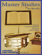 Master Studies, Drums, Joe Morello Exercises For Development Control & Technique