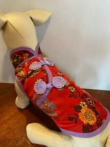 M Satin CHINESE TRADITION Red Dress NEW! Small Dog Average GORGEOUS! Unique!