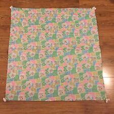 Vintage Handmade Baby Quilt Back Felt Boy Girl Checkered Polka Dot Material