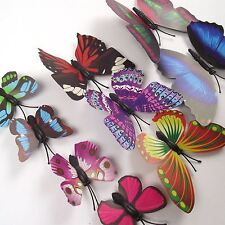 Magnetic Fluttering Butterflies in 3 Sizes! Artificial Fake Decorations Craft