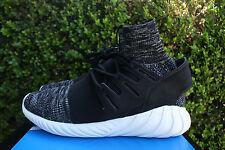 ADIDAS TUBULAR DOOM PK SZ 9 CORE BLACK GRANITE VINTAGE WHITE PRIMEKNIT BB2392