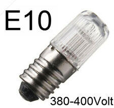 3x Lampe Leuchte Birne Glimmlampe Signal Signallampe Ersatz E10 400V 402811