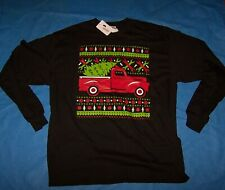 Size 3XL Mens Ugly Christmas Shirt  Longsleeve (Old Red Truck)