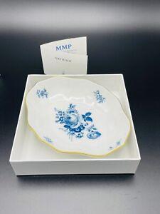 Meissen Porzellan Schälchen Blaue Kornblume. Aquatinta.