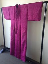 Bright Purple Vintage Silk Japanese One of a Kind Hand Made Kimono Costume