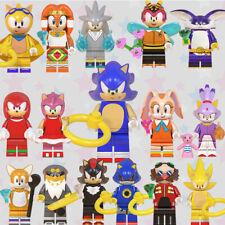 8 Pcs  Collectible  Super Series Sonic The Hedgehog Minifigure Fit Lego