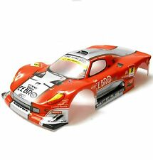 H018R 1/10 SCALA DRIFT Su Strada Touring Car Body Cover Shell RC Rosso Larghezza 190mm