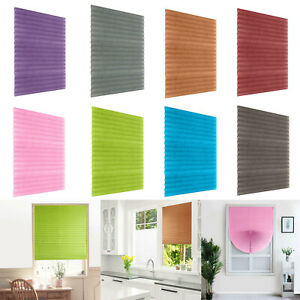 Self-Adhesive Pleated Blinds Home Half Blackout Window Curtain For Balcony Shade